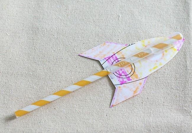science for kids: how to make straw rockets