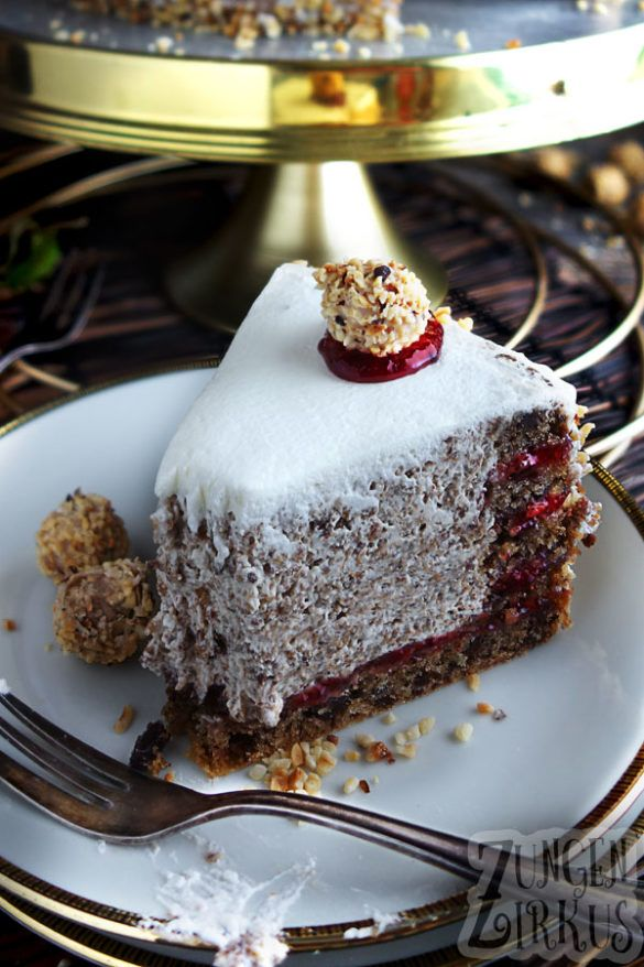 Photo of Creamy nut cake with chocolate and cranberries