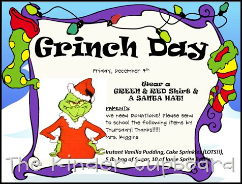 Grinch Invitation Editable