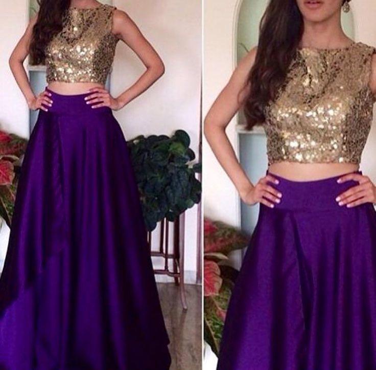 That Royal purple skirt