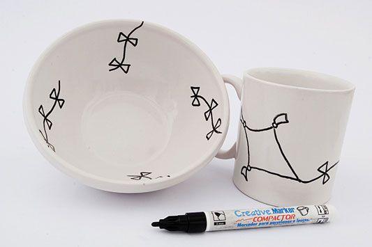 Aprenda a personalizar sua caneca de porcelana