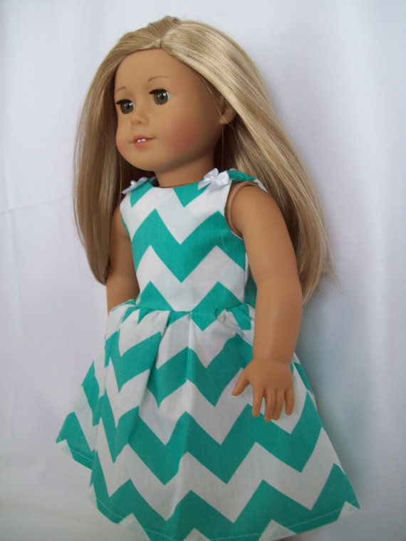 American Girl Doll Clothes Green/ Blue and by OurDollFashions
