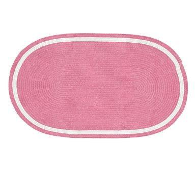 capel chenille rug 9 u0027 x 12 u0027 oval light aqua with bright pink