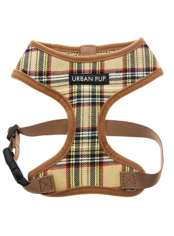 Brown Tartan Burberry Style Harness Patterned Dog Harnesses By