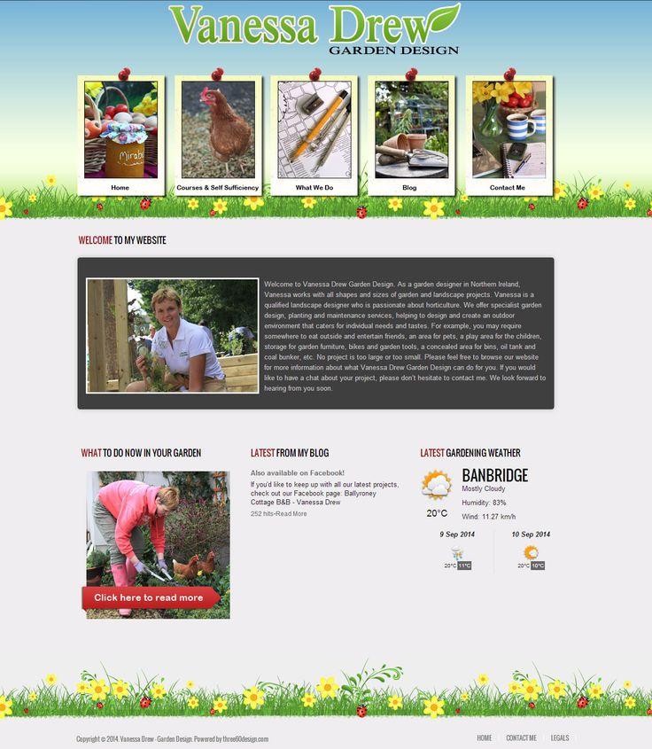 Vanessa Drew Garden Design - three60design Banbridge Northern Ireland - Web Design