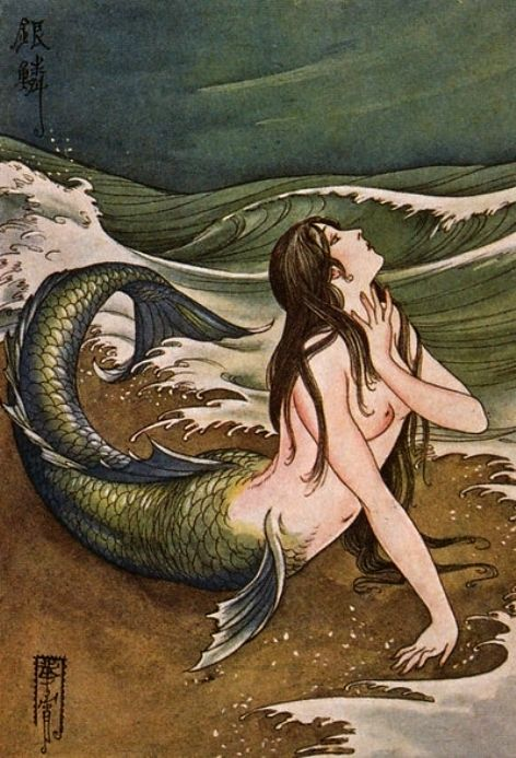 Takabatake Kashou (b,1888)- Mermaid