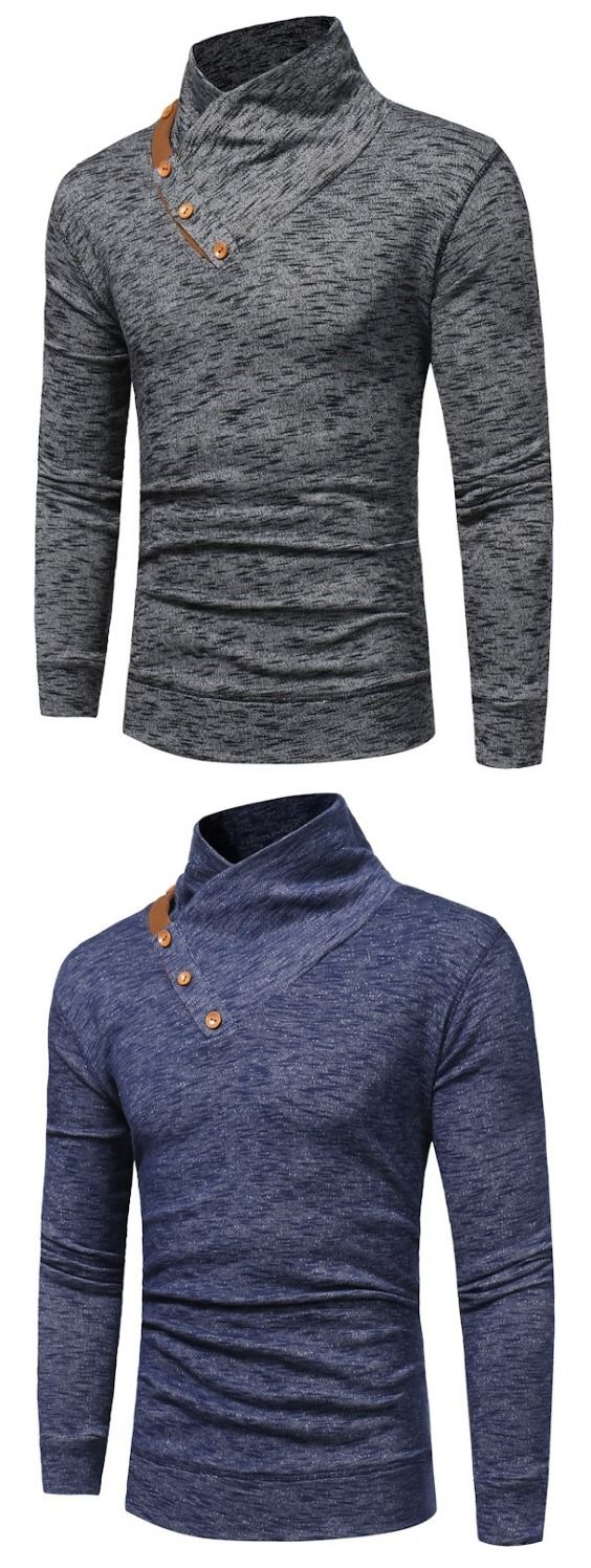 Men's Fashion Collar Thin Sweater