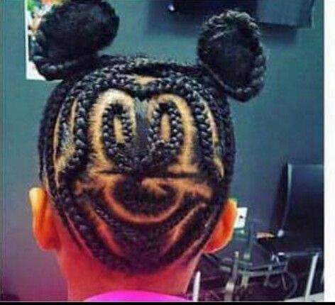 Mickey Mouse braided buns How crazy awesome is this