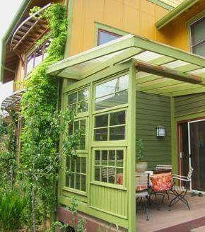 Old window patio enclosure