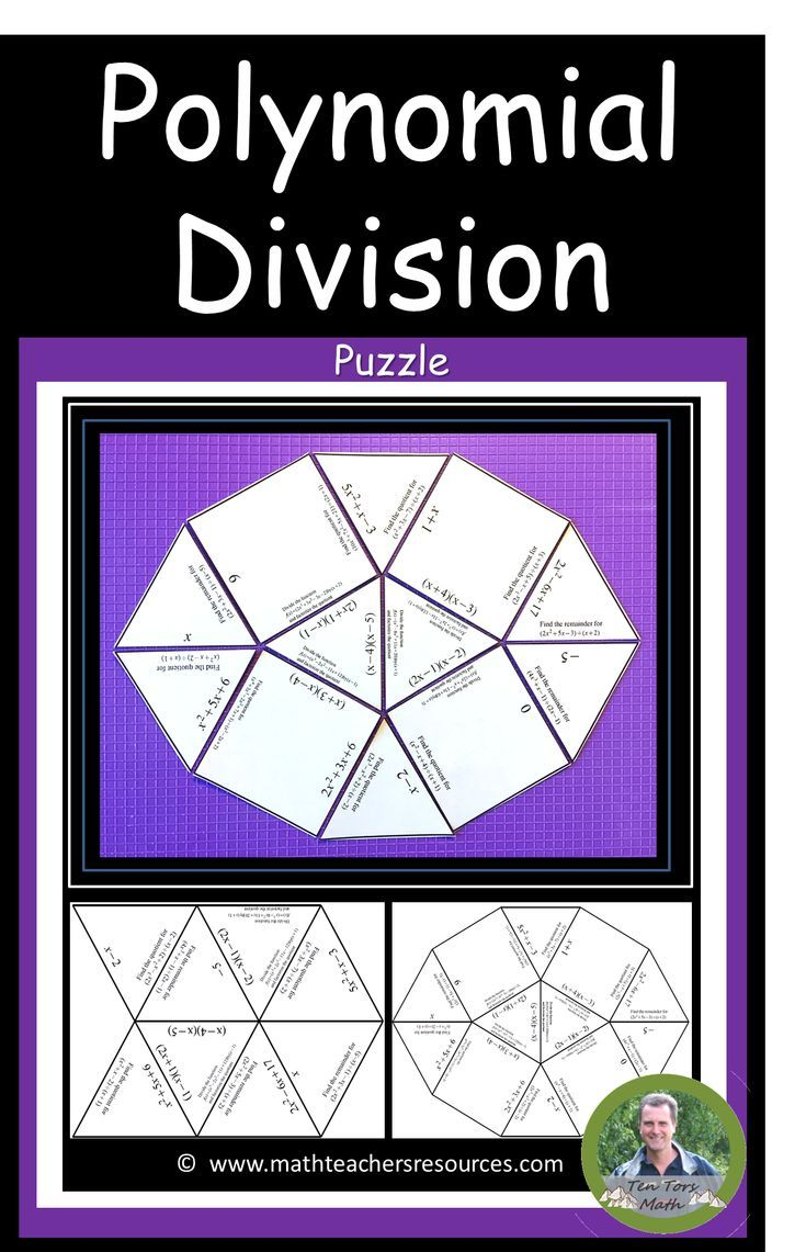 This Precalculus Activity Is Designed For Students To Practice Polynomial Division They Will Need To Be Able Precalculus Activities Polynomials Math Resources