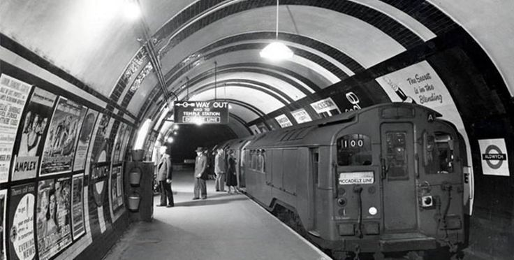 """1950s #Aldwych London Underground Station now dissused. #london."""