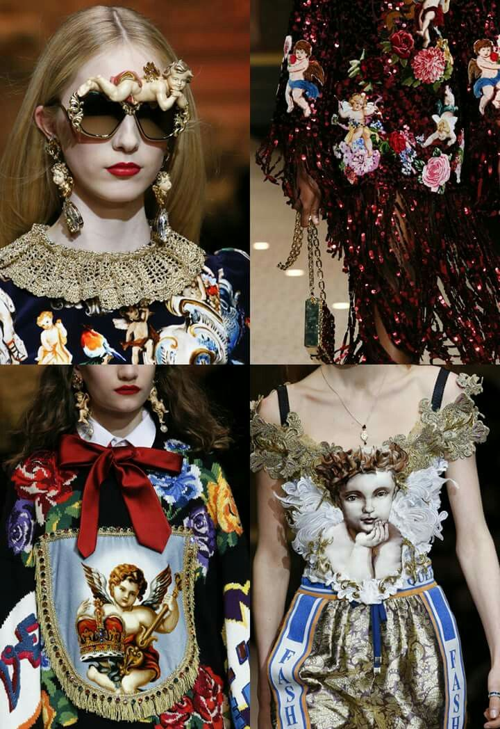 Angels at DOLCE   GABBANA   Fall-Winter 2018 2019   Chanel   Haute ... f83d23426c8d