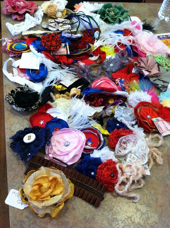 84 Wholesale Headbands, Clips, Broaches, Tiebacks and Emmy Jays / Wholesale Boutique Headbands / photography Prop