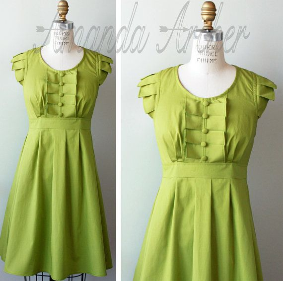 Brown Mustard Bridesmaid Dress size small by AmandaArcher on Etsy, $200.00