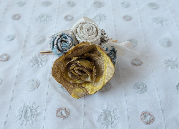 Floral Hair Slide SVHS101 by LittleSilverSixpence on Etsy