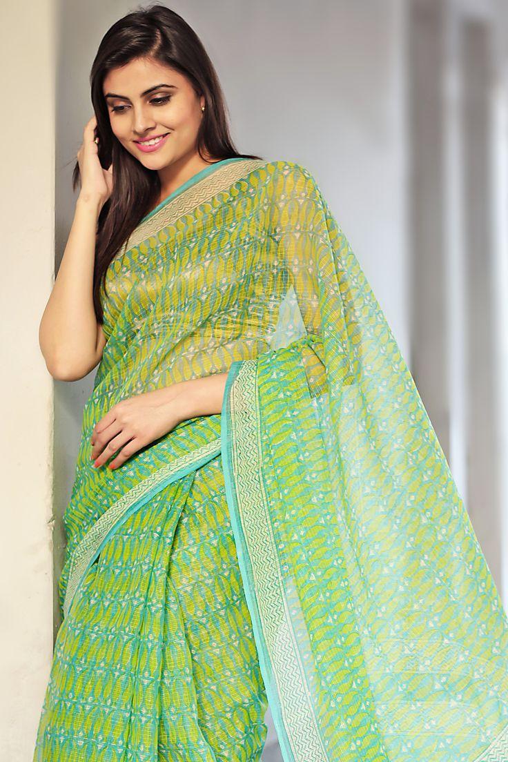 seagreen beauty - #sari at #fabindia