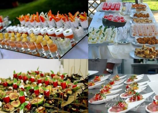 Finger food for Italian wedding menu