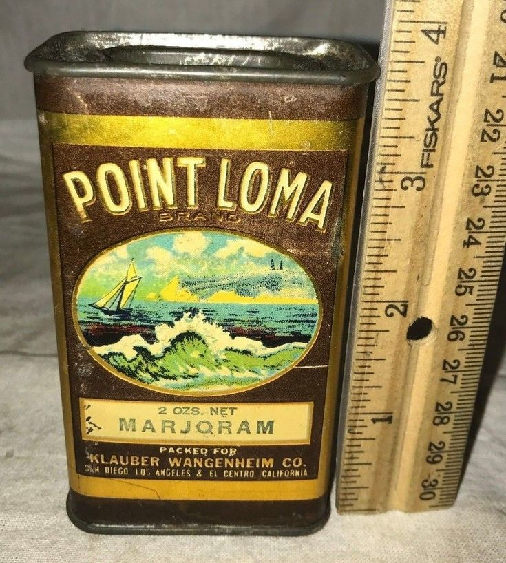 ANTIQUE POINT LOMA MARJORAM SPICE TIN LITHO CAN OCEAN SAILBOAT INCREDIBLE IMAGE   eBay