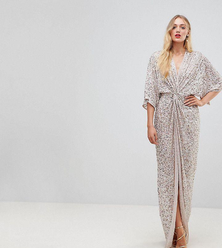 ASOS Tall ASOS TALL Sequin Kimono Maxi Dress