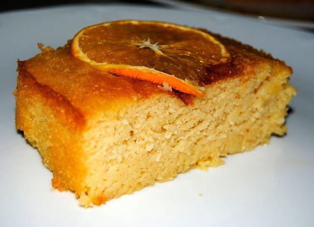 Pastel Libanés de naranja y almendra