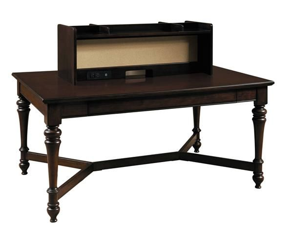 Homework Casual Brown Wood 2.0 60 Inch Workstation Table W/Hutch