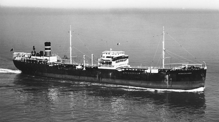 MV British Diligence, an oil tanker built by Swan, Hunter & Wigham Richardson at their Neptune Yard, Low Walker for British Tanker Co Ltd( the tanker line of Anglo-Persian)(Became BP Tanker Co.Ltd in '56) & completed 06/37 8,408GRT, 4930NWQT, 466.3ft lomg, 61.9ft beam & 33.9ft draught. Single Screw powered by 4Cylinder 2SCSA Oil Engine built by Wm Doxford. '57 renamed Anglian Diligence. Arrived Savona on 19/11/58 for breaking up.