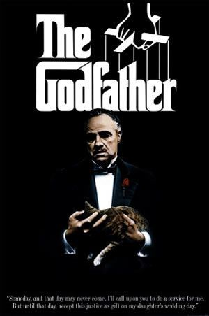 1972: The Godfather  The typeface, the puppet strings and the Godfather himself is all that was needed to make this an unforgettable movie poster.