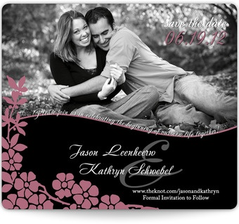 Vine Outline Magnetic Save the Date! #weddings #vine #photo #personalized