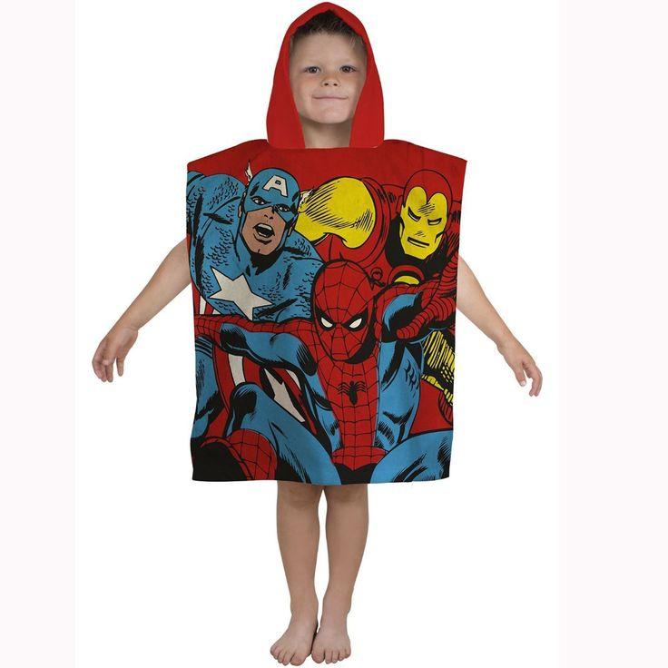 Marvel Comics Justice Hooded Towel. Available at Kids Mega Mart online shop Australia www.kidsmegamart.com.au