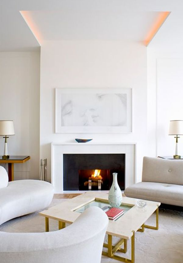 fireplace - modern simple mantle