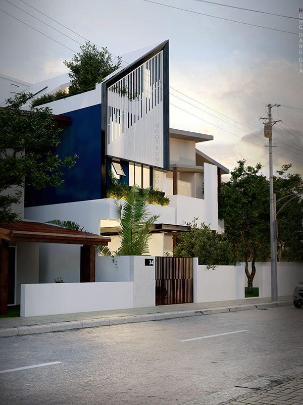 house 4x16 on behance architecture pinterest maison minimaliste maison japonaise et. Black Bedroom Furniture Sets. Home Design Ideas