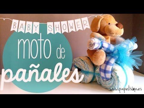 Moto de pañales: MATERIALES: 30 o 40 pañales, gomas elásticas, 3 rollos de cartón, mantita o toalla de bebé para manillar, lazo de tul, papel celofán transparente. http://manualidades.facilisimo.com/blogs/general/moto-de-panales-regalo-para-bebe-o-embarazada_1150738.html