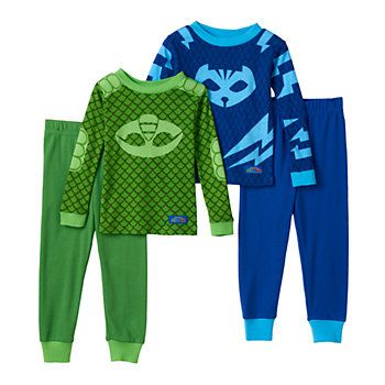Toddler Boy PJ Masks Gekko & Catboy 4-pc. Pajama Set