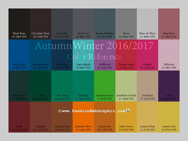 Color Trends 2016 2017 Fall Winter | AW2016/2017 Trend Forecasting for Women, Men, Intimate, Sport Apparel ...