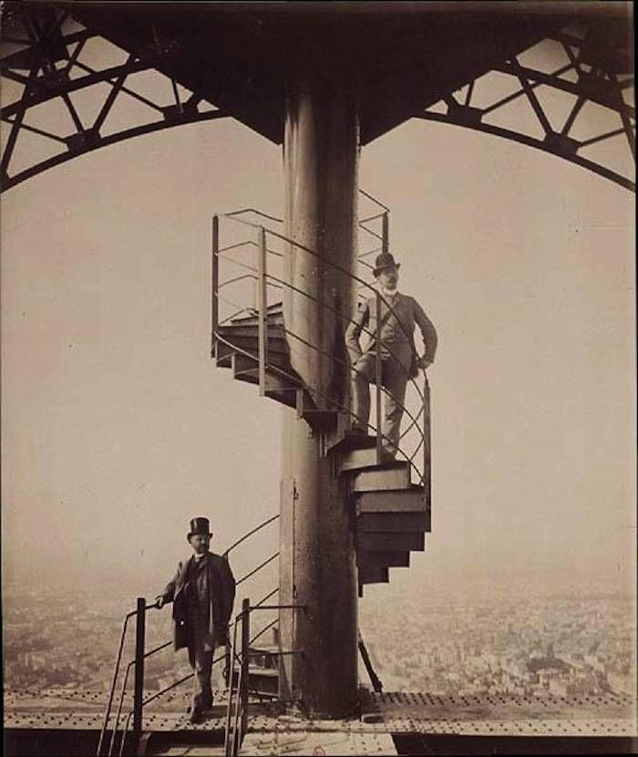 Building Mr. Eiffel's Penthouse Apartment: A Tower Under Construction