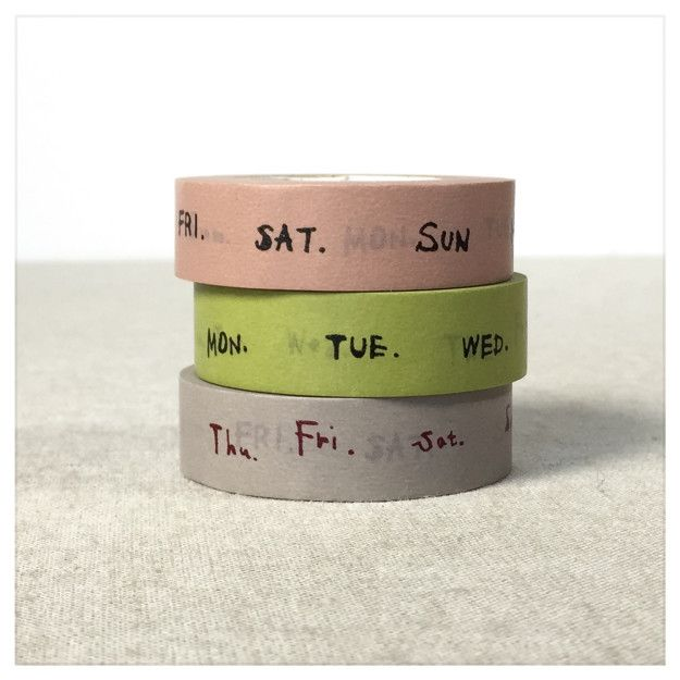 This cute day of the week washi tape ($7) saves you some time while crafting your weekly log.