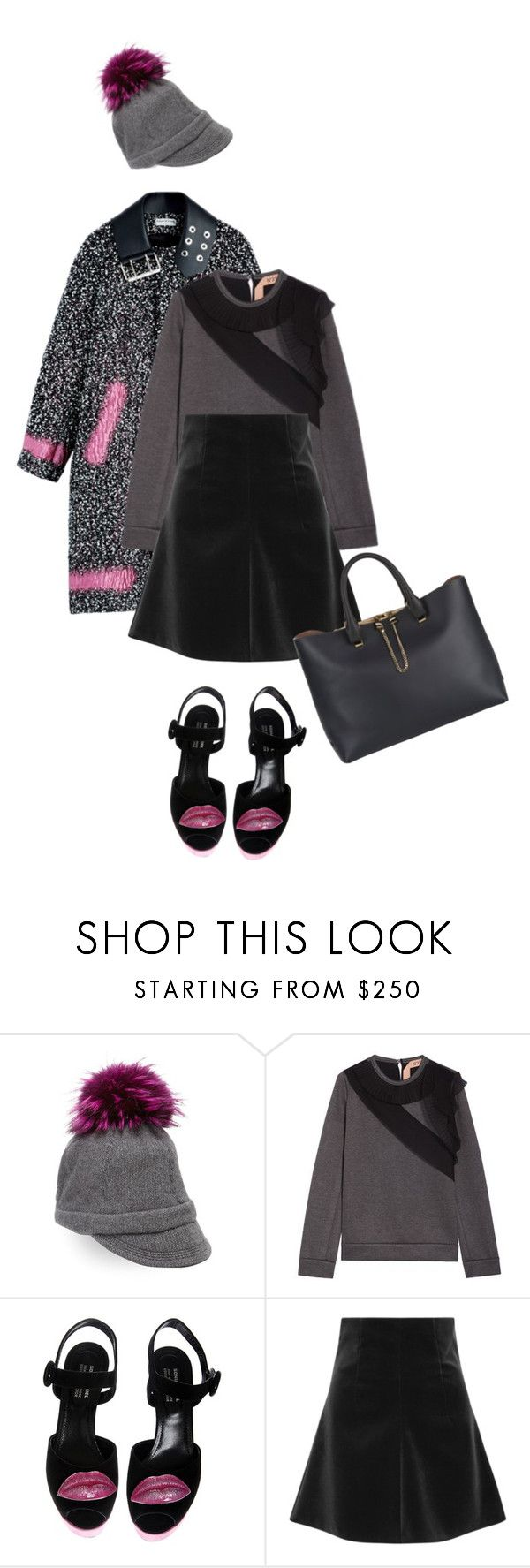 """""""places to go."""" by mercimasada ❤ liked on Polyvore featuring Portolano, N°21, Sonia Rykiel, RED Valentino, Chloé, Winter, CasualChic, mixnmatch, Semicasual and nobackground"""