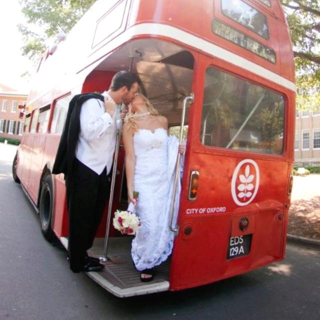 A University Club Wedding Oxford Double Decker Bus Of Mississippi Ole Miss