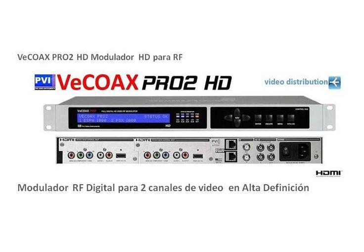 Modulador Vecoax Pro2 RF Digital 2 canales en HD