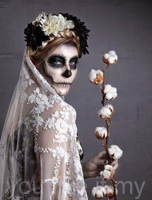 Sugar Skull Makeup | Sugar+Skull+Makeup+for+Halloween+attractive+and+very+feminine.jpg
