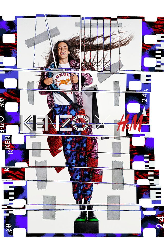 The long-awaited KENZO X H&M collection will hit selected stores and hm.com tomorrow. It's time to express yourself vividly and freely.   KENZOxHM