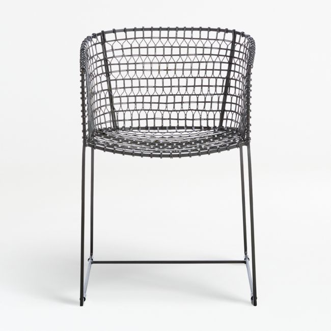 Tig Metal Barrel Dining Chair Reviews Crate And Barrel In 2020 Dining Chairs Wire Dining Chairs Metal Dining Chairs
