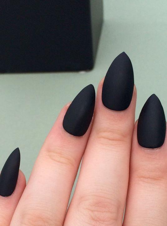 Fashion Ideas Elegant Black Nail Designs 2019 mattenail