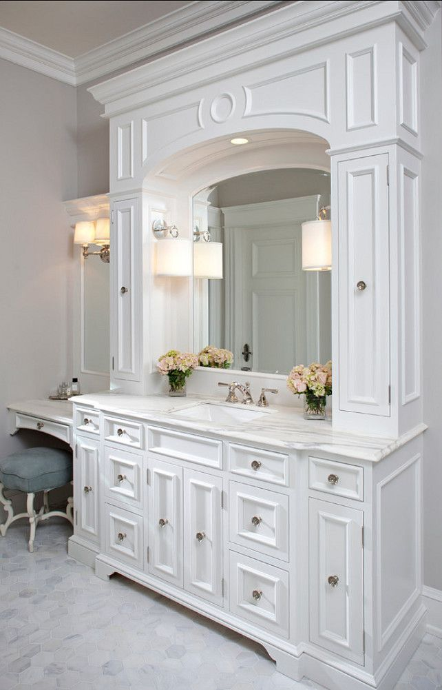 best 25 white bathroom cabinets ideas on pinterest master bath bathroom countertops and. Black Bedroom Furniture Sets. Home Design Ideas