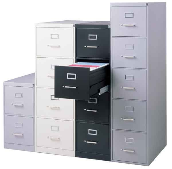 310 Series Vertical File Cabinet By Hon 5 Drawer Legal 26 1 2 D