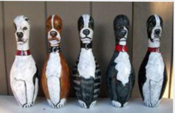 Dog Bowling Pins