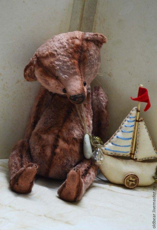Купить Stone Sea..... - мишка, мишка тедди, коралловый, мишка ручной работы