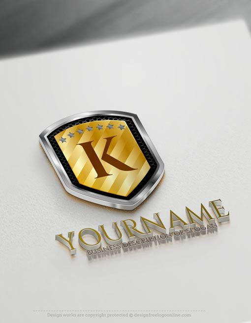 Create your own Free 3D Shield Logo Online using the best Letter Logo generator software.
