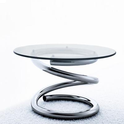 Spring table by Shiro Kuramata produced by Living Divani - click to enlarge