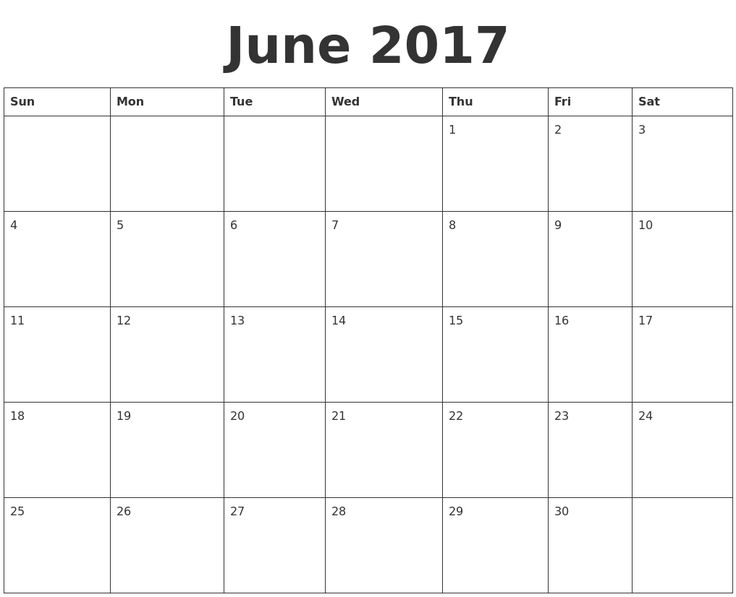 32 best June 2017 Calendar images on Pinterest Calendar - assessment calendar templates